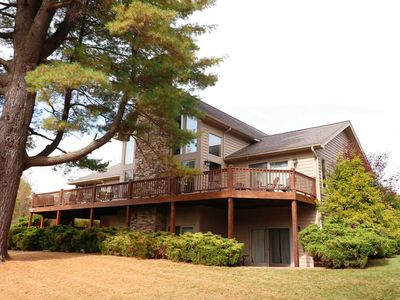 Photo for Pine Oasis- 5 bedroom lakefront home on a quiet Deep Creek Lake cove