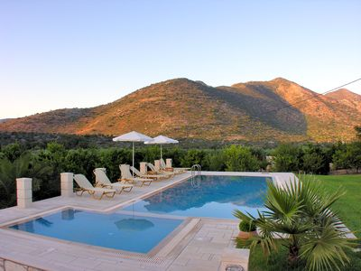 Photo for Luxurious villa with huge garden & private Heated pool in paradise environment