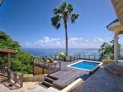 Photo for Private villa with breathtaking views, pool, wi-fi, AC, full staff, sleeps 10-12