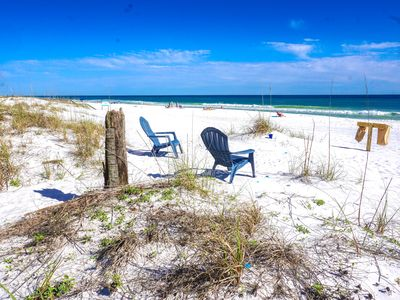 Your private beach! No public beach except Pompano Joes west 1/2 a block/sunset.