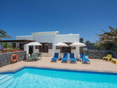 Photo for Faro Park luxury villa & pool, spacious corner plot surrounded by our gardens