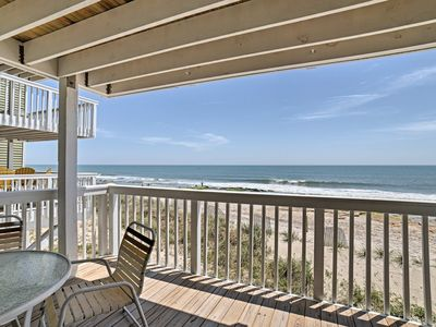 Photo for NEW! Oceanfront Condo on Kure Beach w/ Pool Access