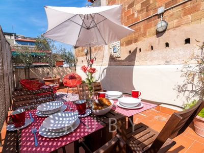 Photo for Terrace oasis in center of Barcelona