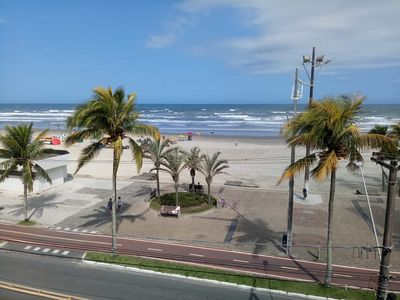 Photo for Apt. facing the sea Praia Grande Ocian Town