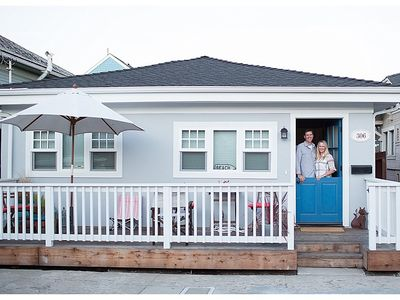 Photo for Newly remodeled and fully furnished beach cottage. 2 blocks from the beach