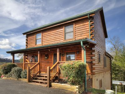 Photo for New! Perfect Location! Spacious 4BR/ 4BA cabin w/ hot tub, Resort pool, *Wifi*