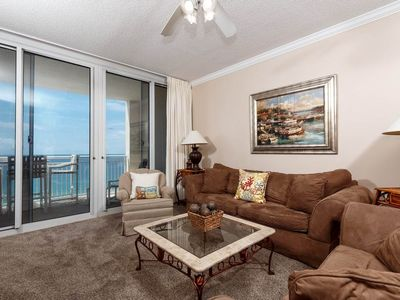 Photo for Spacious gulf front condo, Beach service included, Minutes to dining