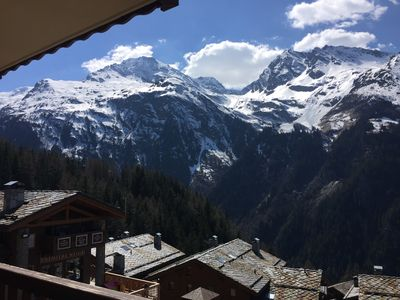 Photo for at the foot of the slopes, view Mont Pourri and Aiguille Rouge