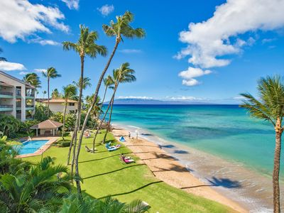 Photo for Absolute Beachfront with Million-Dollar Views at Hale Mahina A-302