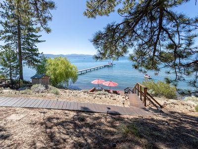 """Photo for Vintage """"Old Tahoe"""" cabin on Private Beach"""