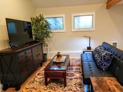 Incredible living spaces! Huge detached studio with own entry and kitchenette