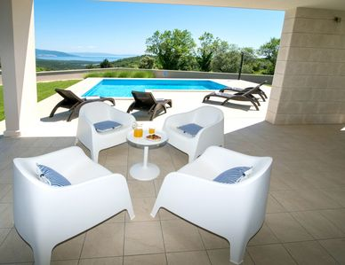 Photo for Villa on east coast of Istria-panoramic sea view by the pool-BEST PRICE 7-14.09.