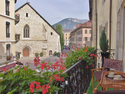 Photo for Luxury charming apartment 4* with balcony in the Old Town of Annecy