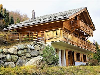 Photo for FAMILY CHALET, NEW, QUIET, VIEW, BETWEEN NENDAZ AND SIVIEZ, HEART OF 4 VALLEYS