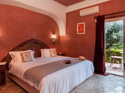 Photo for Double room in a charming villa in the heart of Marrakech palm grove