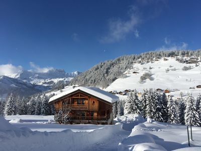 Photo for BEAUTIFUL CHALET Espace Diamant 360m from the Mont-Rond chairlift and ESF departure