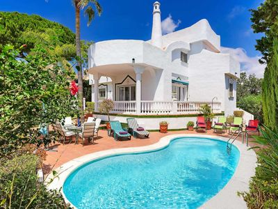 Photo for 4 bedroom Villa, sleeps 8 in Artola with Pool, Air Con and WiFi