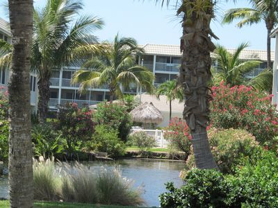 Photo for TROPICAL  2 BR/ 2 Ba, 77 Steps to BEACH  Unit #304/ 10% DISCOUNT/ Dogs welcome!