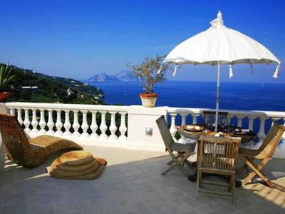 Photo for Two Bedroom Split Level Villa Sorrento Coast   Villa Miragolfo is an exquisite villa in a fabulous position