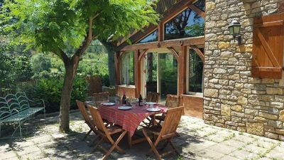 Photo for Large character cottage, stone, independent, garden with terrace