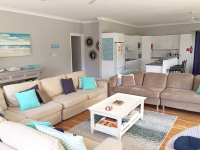 Photo for Mar-Lins Beach House, HUGE 63 sq. metres living room, big gas heater, pets OK
