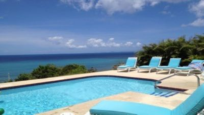 Photo for Private Villa, on 3/4 acre over looking Caribbean