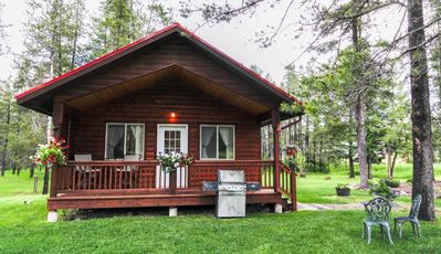 Photo for WOLF CABIN – BEAUTIFUL PRIVATE SETTING, 6 MILES TO GLACIER PARK