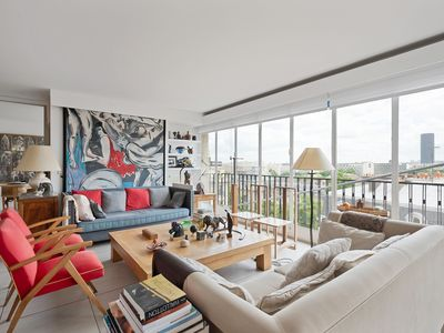 Photo for Sophisticated 2BR with terrace, footsteps from the Eiffel Tower, by Veeve