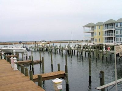 Photo for Beats Campin' - 1st Floor Water Front Condo - In Town
