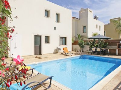 Photo for Eugenia Villa - Detached Villa with Private Pool and just 600 meters from Fireman's Beach ! - Free WiFi