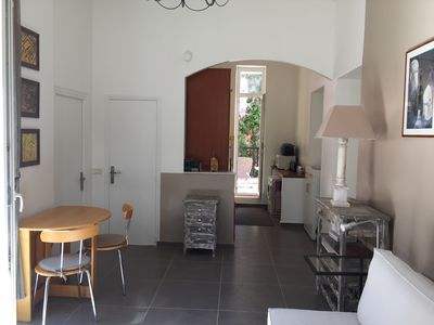 Photo for Superb charming apartment with terrace 100 meters from the sea and shops