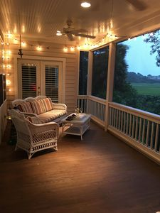 Oversized screened porch off the family room.  Take in the ocean breeze