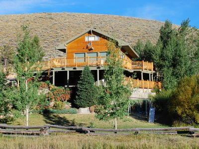 Photo for Lower Stanley Lodge: Sleeps 13 w/Sawtooth Mountain View, Large Deck