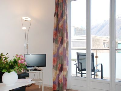 Photo for Apartment in the center of Ascona with Lift, Parking, Washing machine, Balcony (46887)