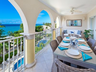 Photo for Modern Beachfront Condo with Pool - Sapphire Beach 307