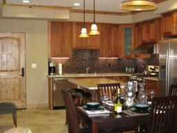 Fully loaded kitchen and dining area