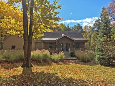 Photo for Wooded Retreat - Steps to the Lake - Close to Town