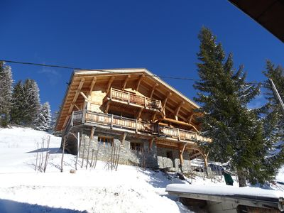 Photo for Les Saisies: rent Beautiful family chalet, sleeps 11