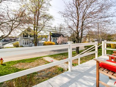 Photo for Dog-friendly, oceanview home overlooking Boothbay Harbor & the footbridge!