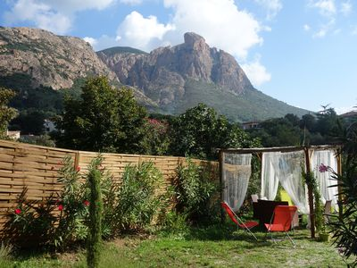 Photo for Ground Villa 55m² any comfort at the foot of Mont Gozzi to Piscia Rossa (Appietto)