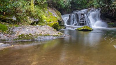 East Fork Falls in Headwaters; 1.5 mile drive from cabin.  Viewing and Swimming
