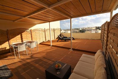 54sq metre terrace - half in the sun deck, half shaded