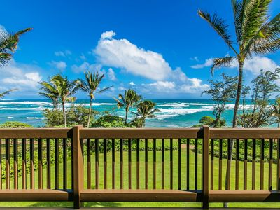 Photo for Kaha Lani Resort #326, Oceanfront, Steps to Beach, Free WiFi & Parking