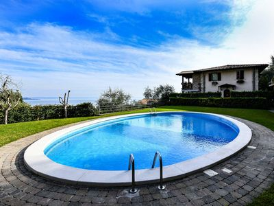 Photo for Lake View with Oval Pool - Villa Borgo