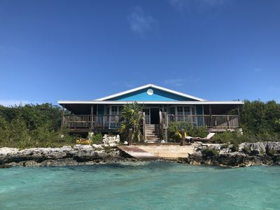 Photo for 4 Double Beds Water Front On Bone Fish Flats 10 min drive to George Town Exuma