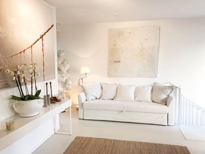 Photo for Bright two-floor apartment with private terrace