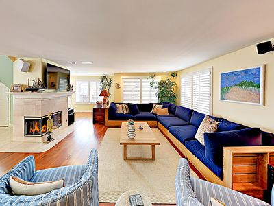 Photo for New Listing! Ocean-View Beach Beauty w/ Rooftop Deck & Fireplaces