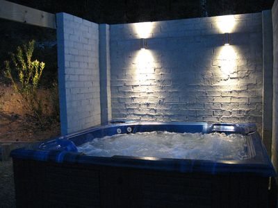 Heated outdoor spa