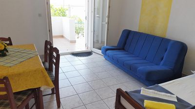 Photo for One bedroom apartment with terrace Gradac, Makarska (A-11332-a)