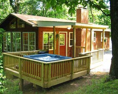 "Photo for ""Hot Tub Heaven Cabin #8 - Cabins for Rent in Linden, Virginia"